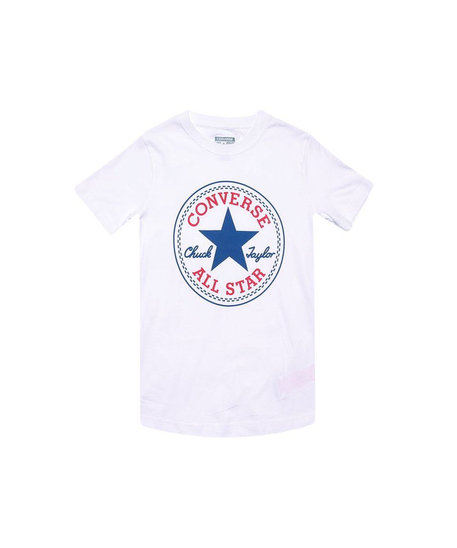 Image for Boy's Converse Junior Chuck Patch T-Shirt in White
