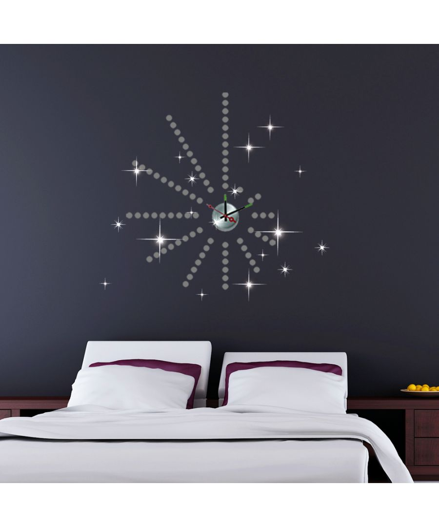 Image for Walplus Wall Sticker Clock with Silver Dots and Swarovski Crystals