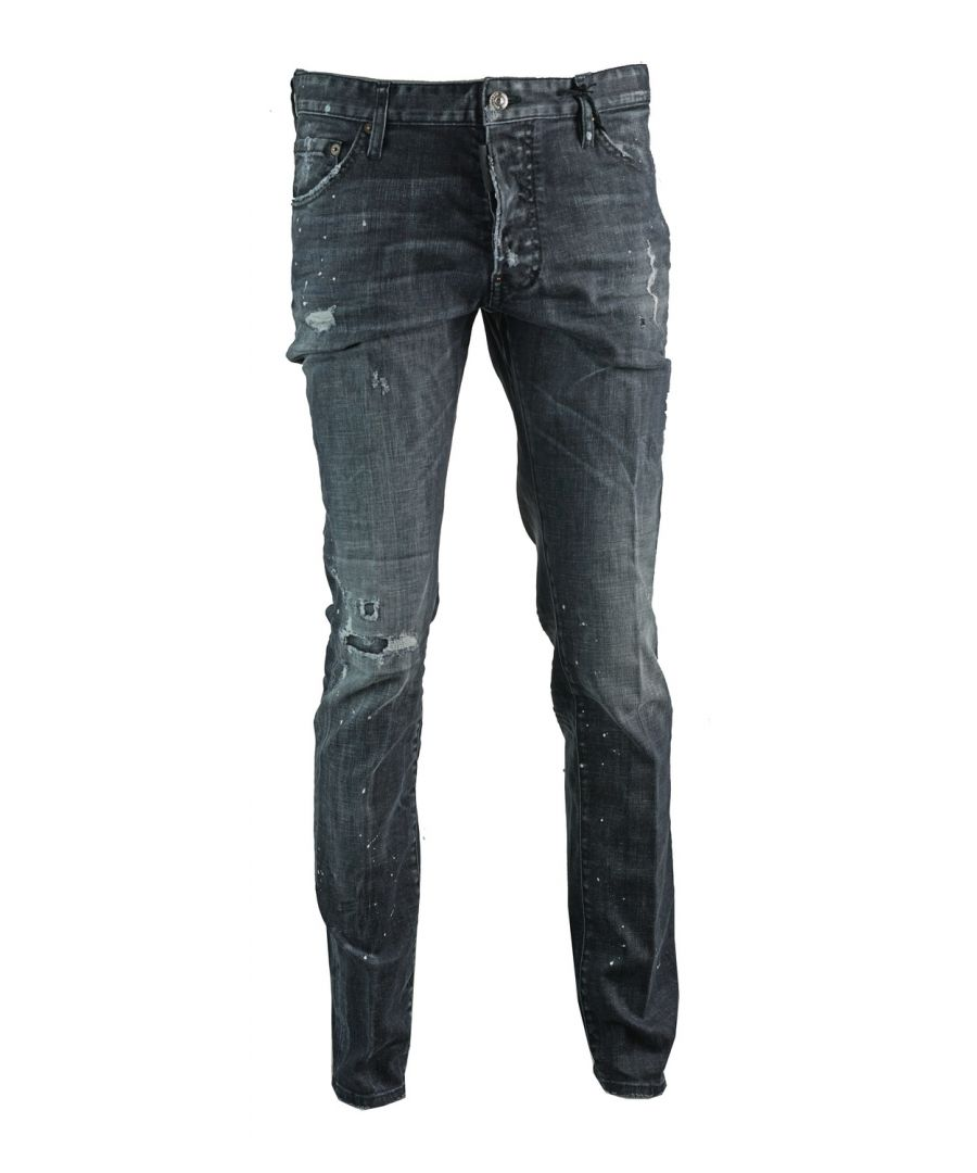 Image for Dsquared2 Distressed Cool Guy Jean Black Jeans