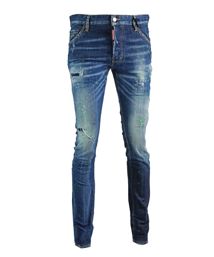 Image for Dsquared2 Cool Guy Jean Blue Paint Effect Jeans