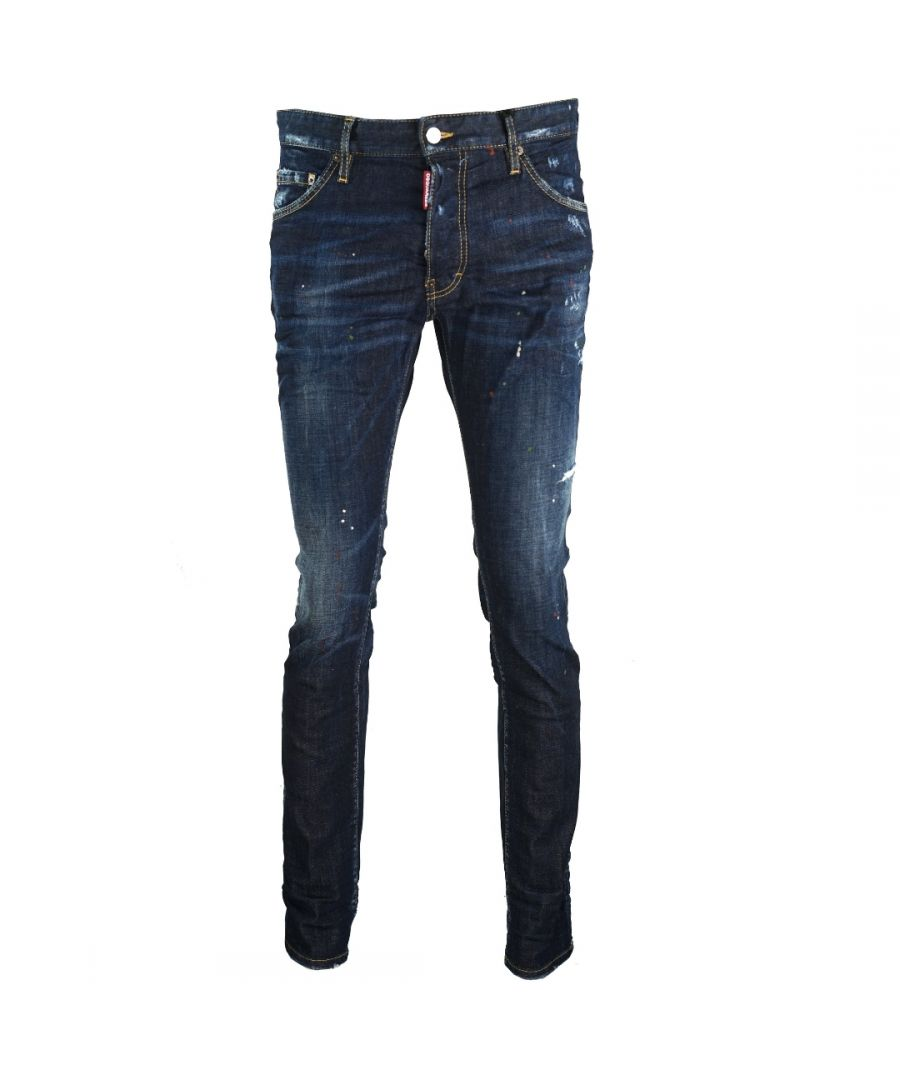 Image for Dsquared2 Cool Guy Jean DSQ2 Maple Leaf Logo Jeans
