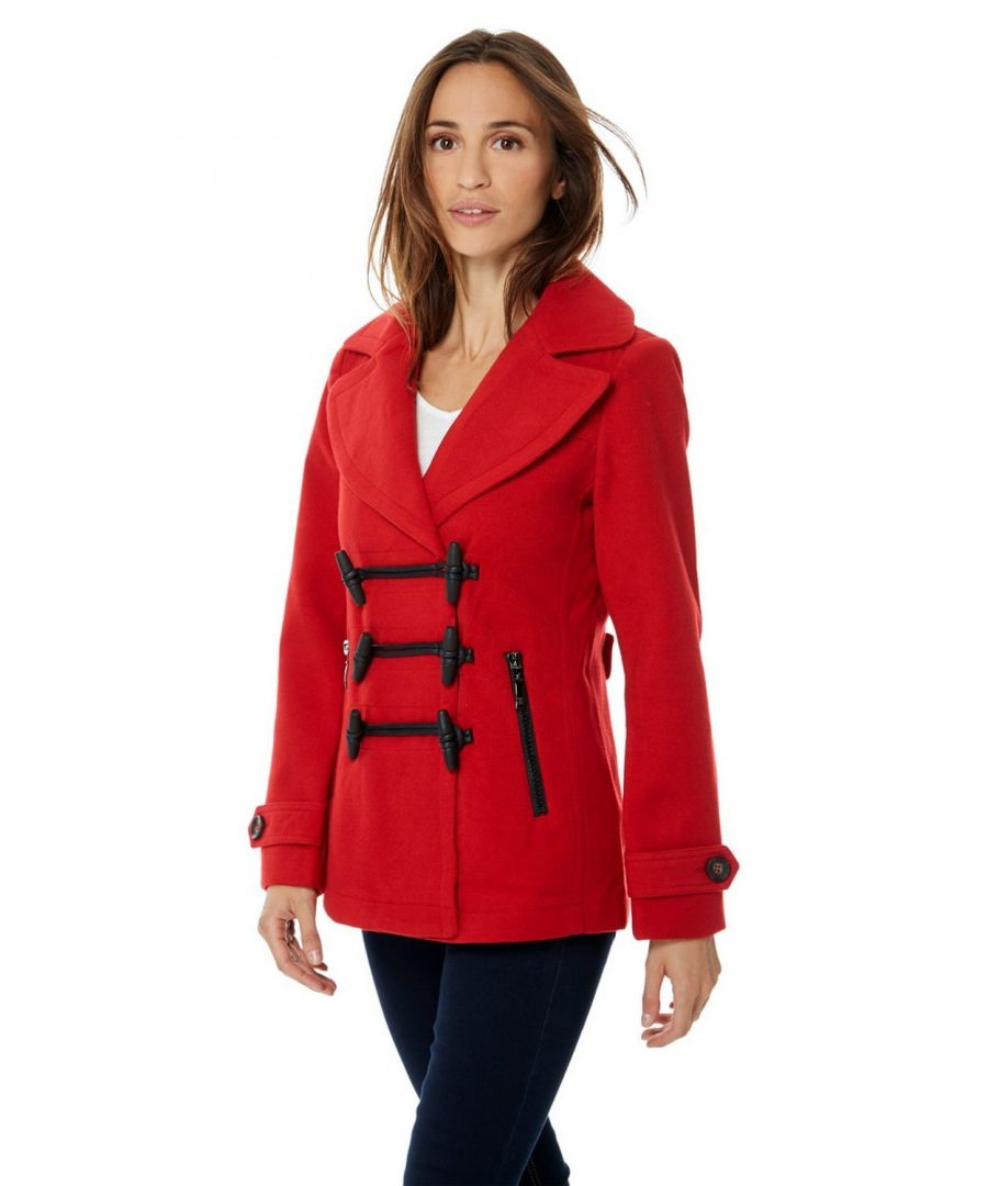 Image for Assuili Short Duffle-style Coat in Red