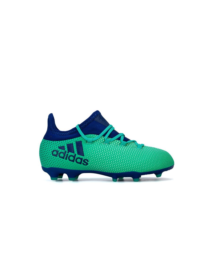 Image for Boy's adidas Junior X 17.1 FG Football Boots in Turquoise