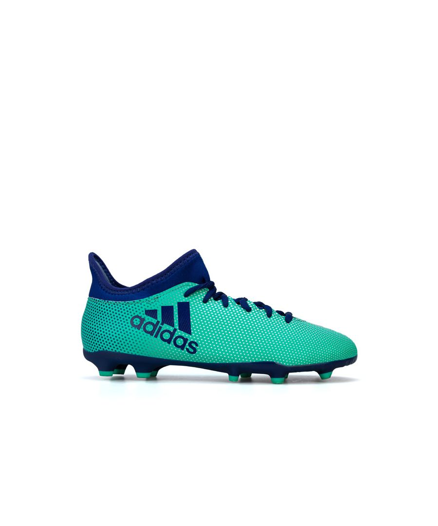 Image for Boy's adidas Junior X 17.3 FG Football Boots in Green
