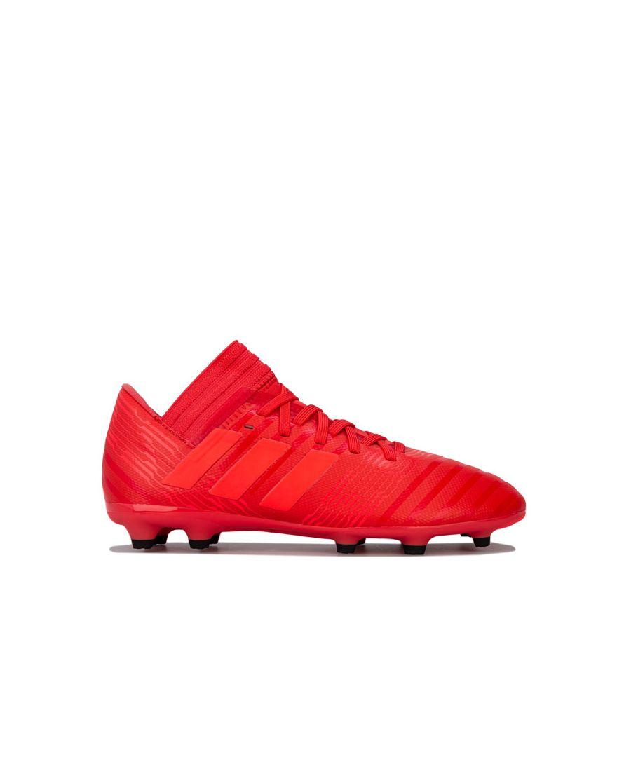 Image for Boy's adidas Children Nemeziz 17.3 FG Football Boots in Red