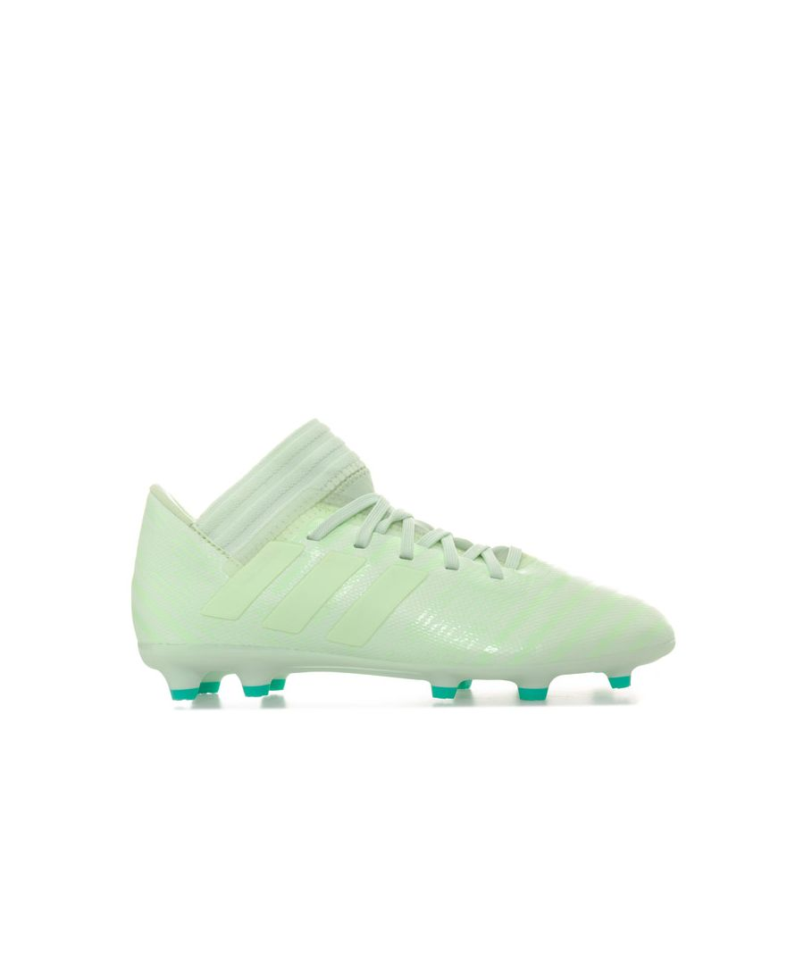 Image for Boy's adidas Children NEMEZIZ 17.3 FG Football Boots in Green