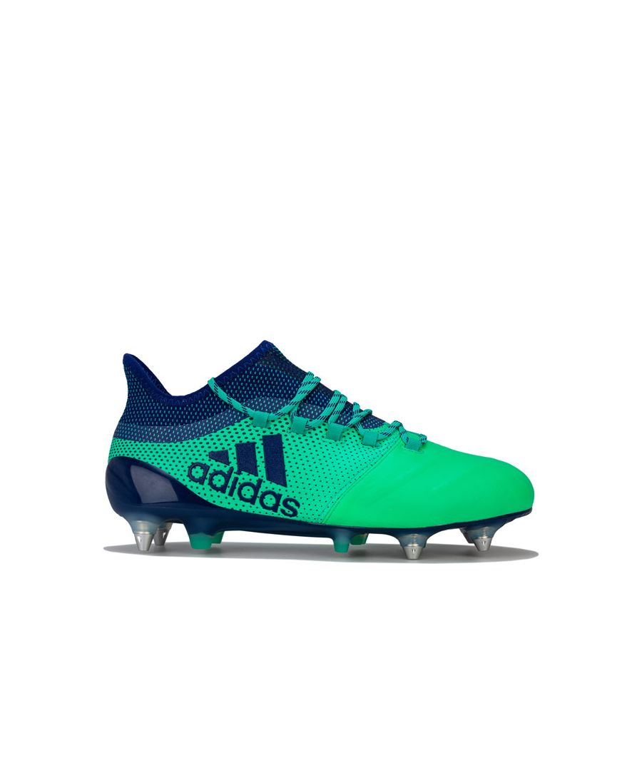 Image for Men's adidas X 17.1 SG Leather Football Boots  in Green blue