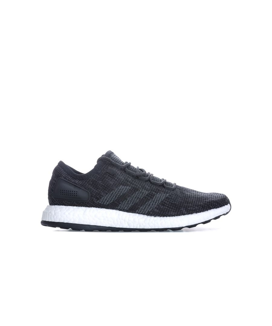 Image for Men's adidas PureBOOST Trainers in Black Grey