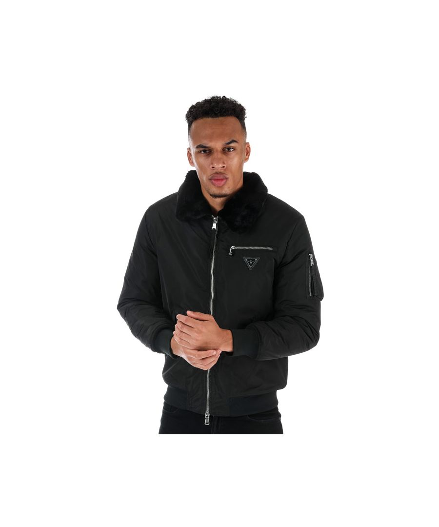 Image for Men's Creative Recreation Industrial Bomber Jacket in Black