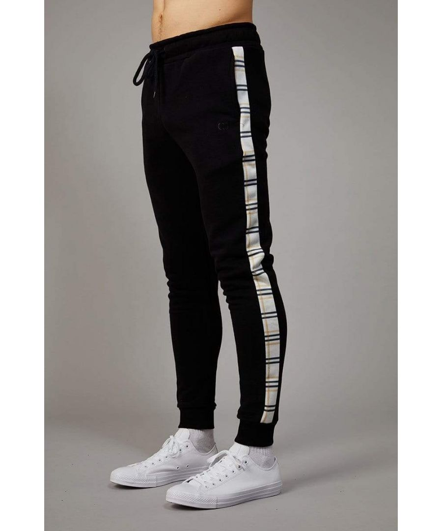 Image for White Check Globe Joggers