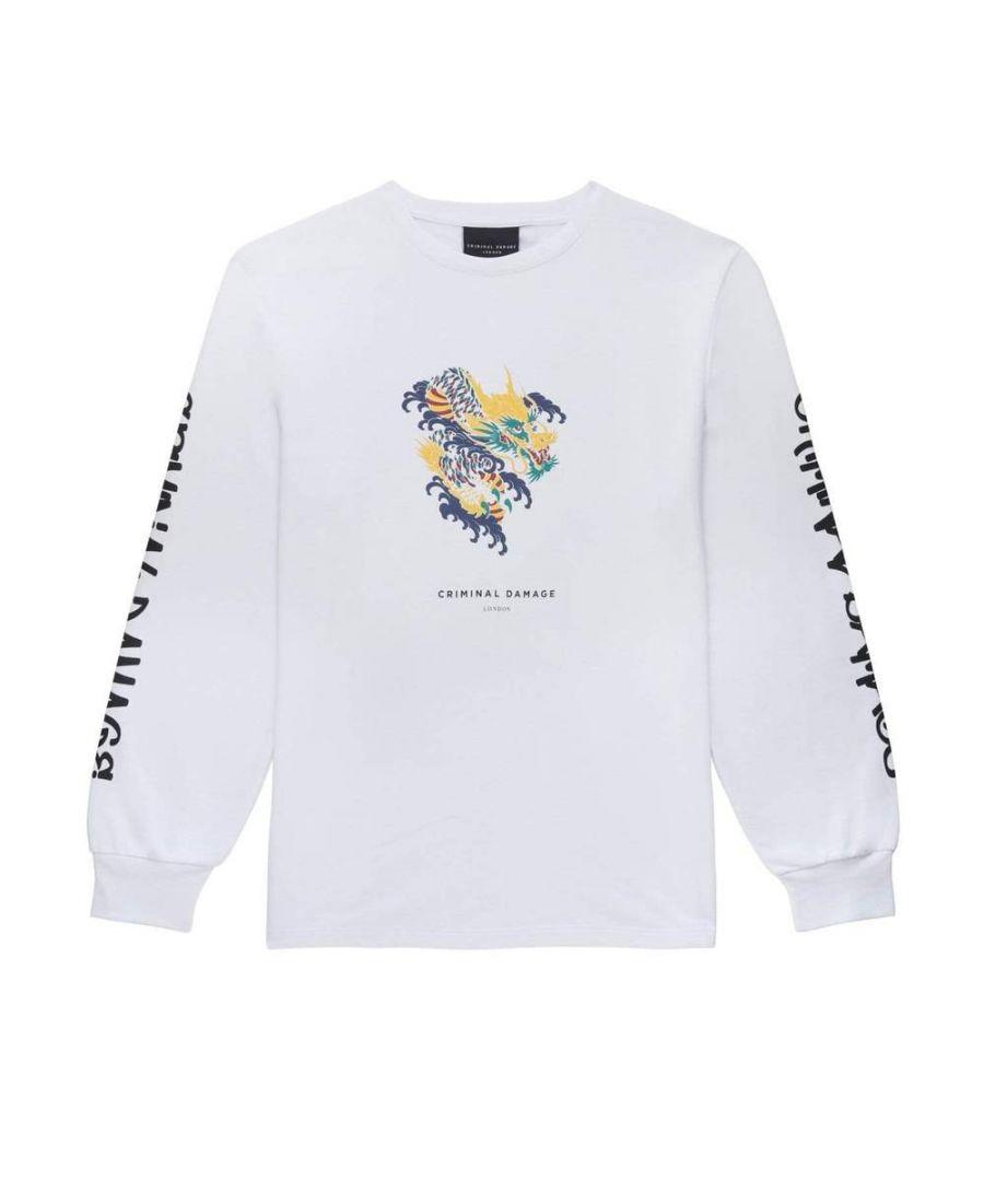 Image for Dragon Skate Ls Top - White