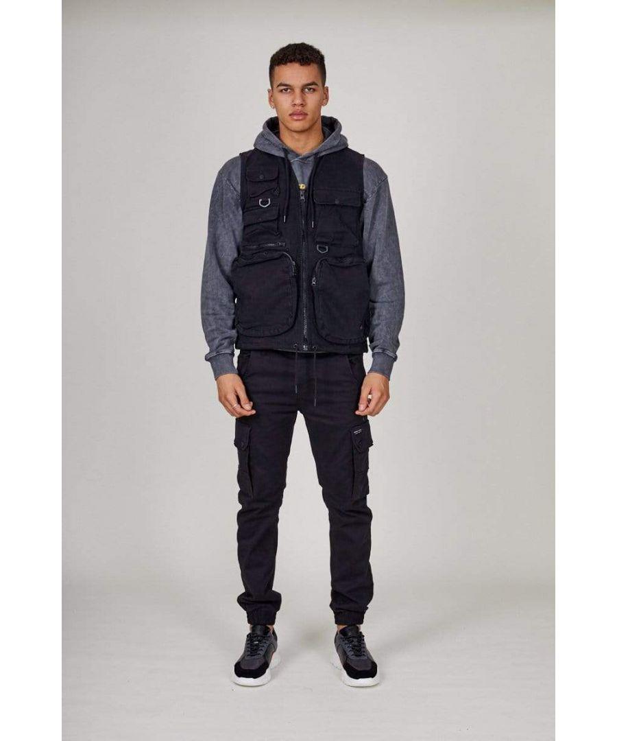 Image for Black Cargo Vest