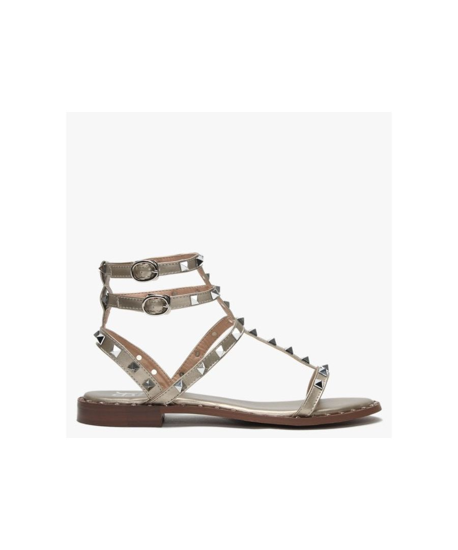 Image for DF By Daniel Cuboid Studded Gladiator Sandals