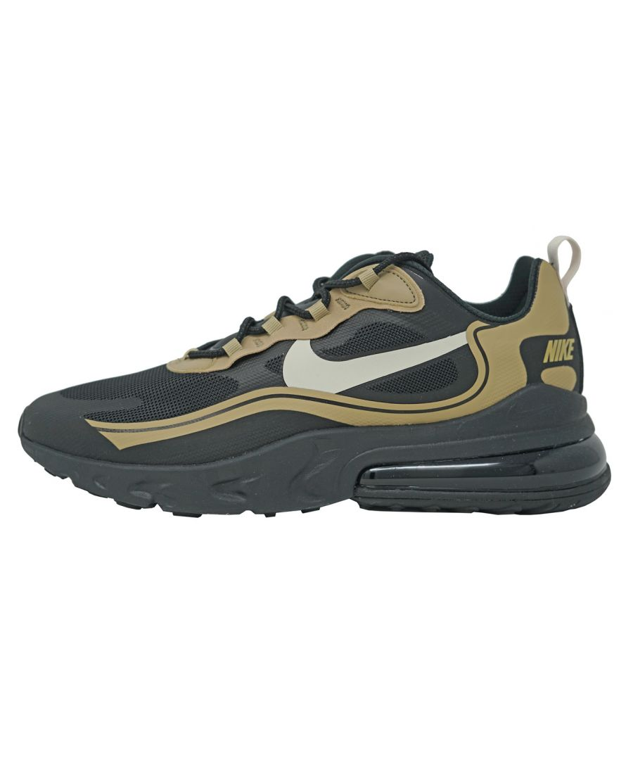 Image for Nike Air Max 270 React Black Gold Shoes