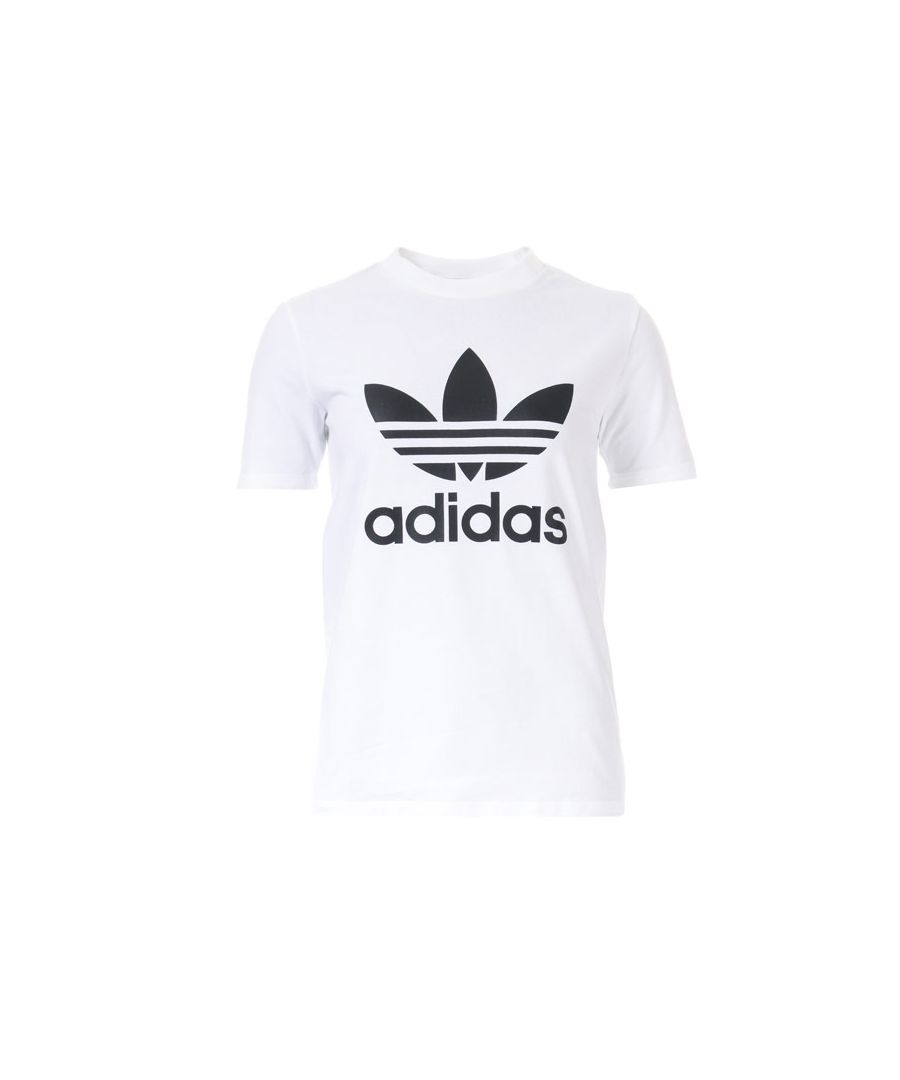 Image for Women's adidas Originals Trefoil T-Shirt in White Black