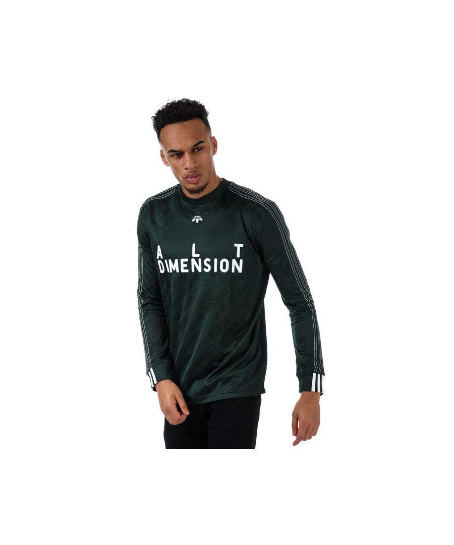 Image for Men's adidas Originals Alexander Wang Soccer LS Top in Green