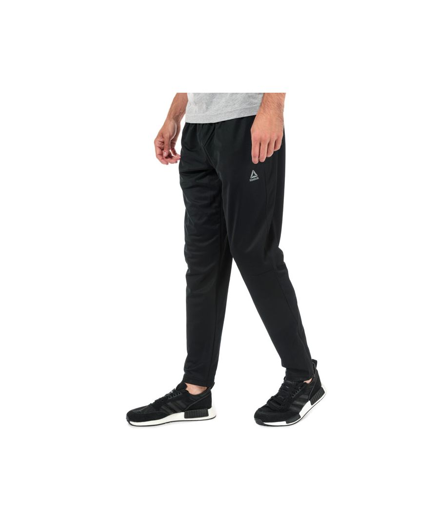 Image for Men's Reebok Stacked Logo Trackster Pants in Black
