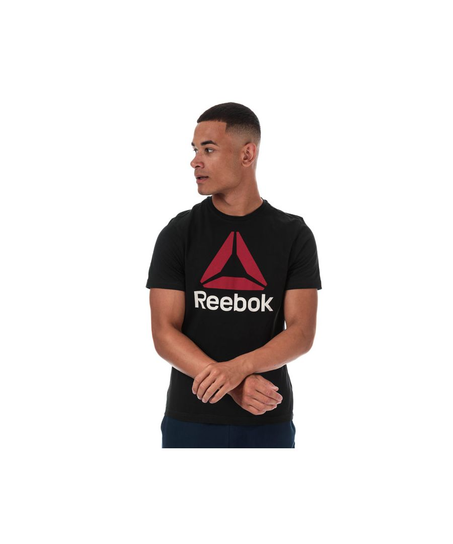 Image for Men's Reebok QQR Stacked T-Shirt in Black Red