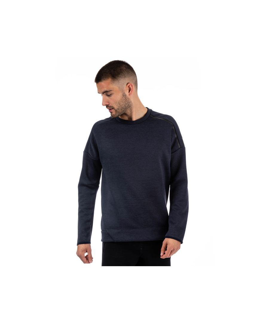 Image for Men's adidas ZNE Crew Neck Sweat in Navy