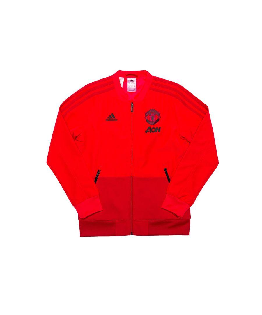 Image for Boy's adidas Junior MUFC Presentation Jacket in Rose