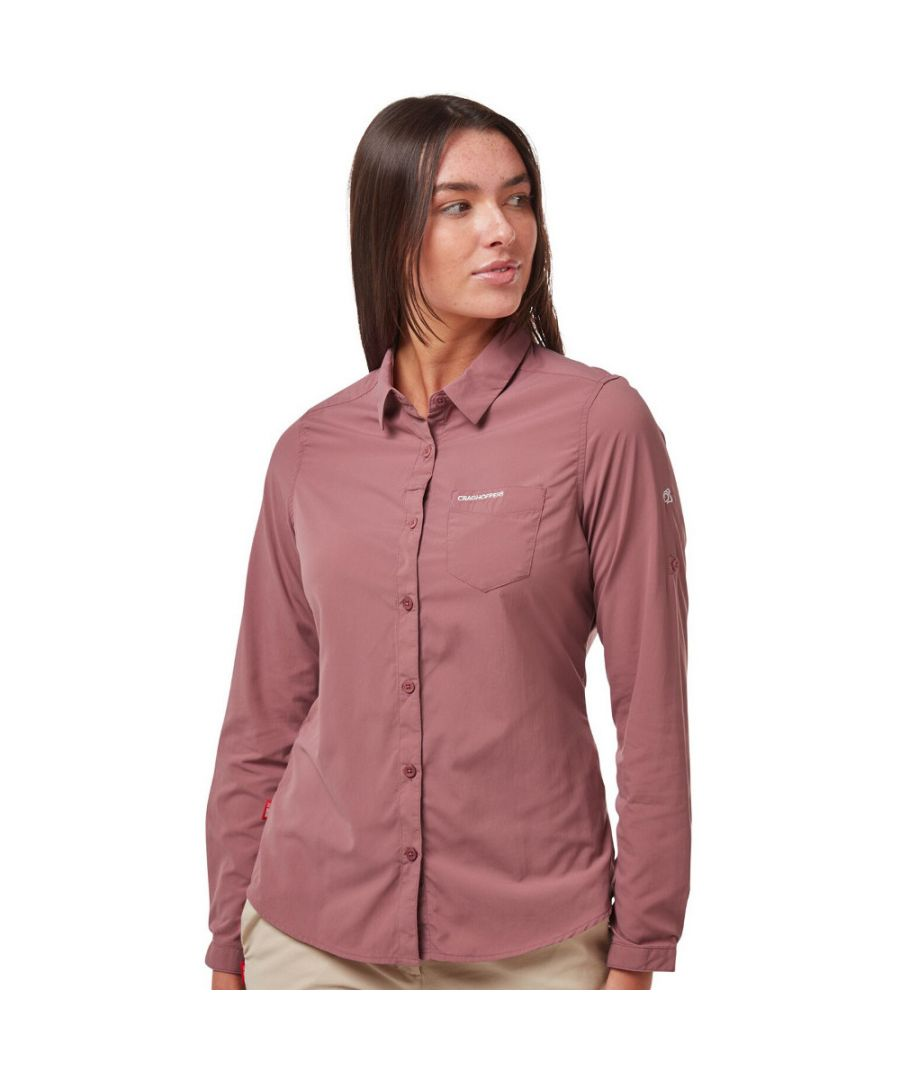 Image for Craghoppers Womens NosiLife Bardo Wicking Long Sleeve Shirt