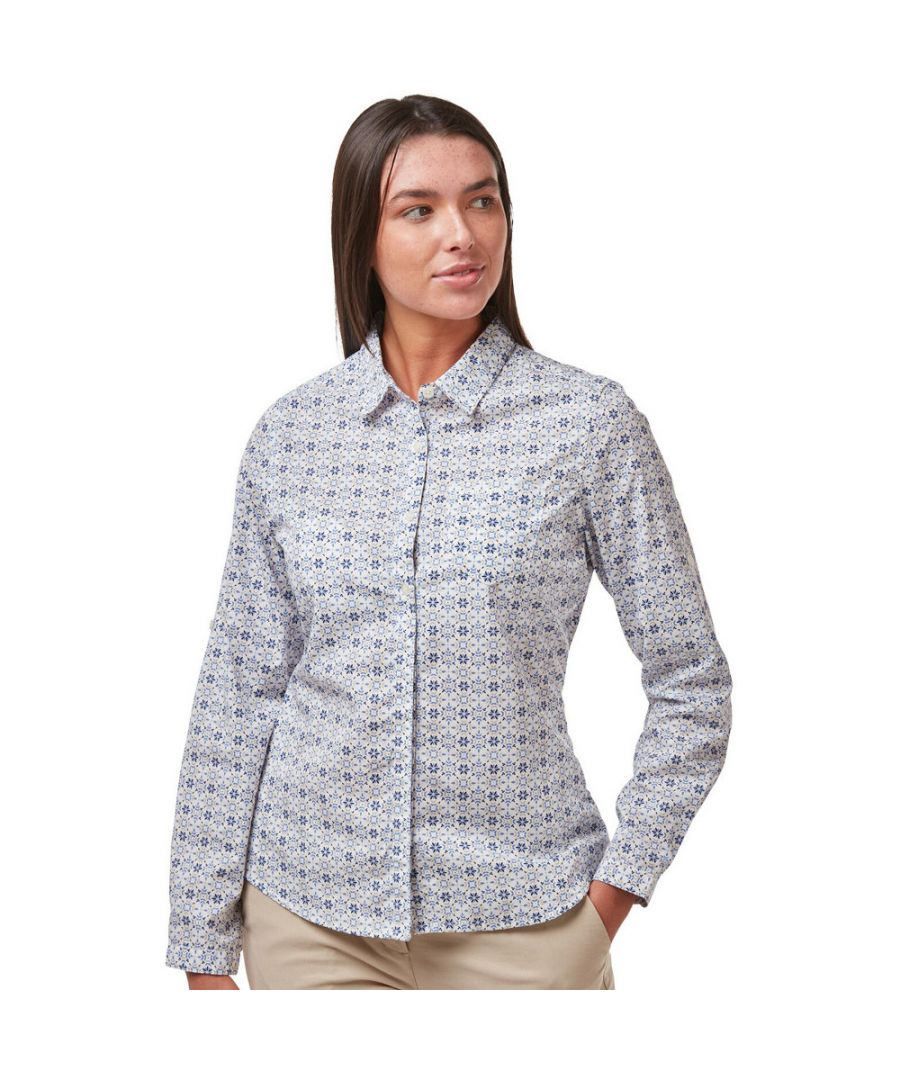 Image for Craghoppers Womens Kiwi Quick Drying Long Sleeve Shirt
