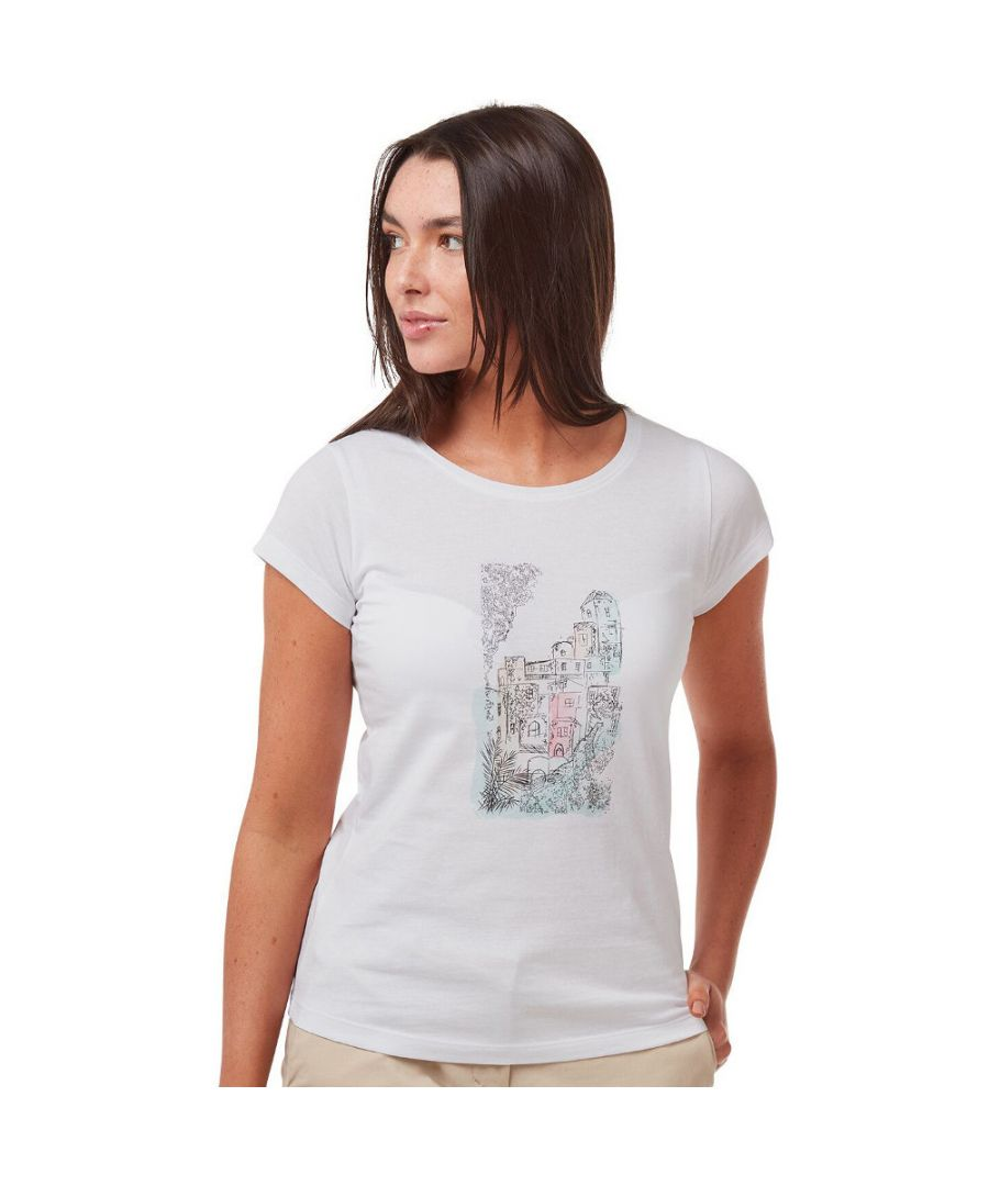Image for Craghoppers Womens Lima Relaxed Fit Graphic Jersey T Shirt