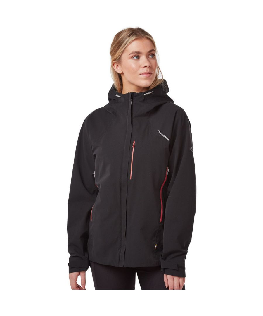 Image for Craghoppers Womens Explore Hooded Waterproof Coat