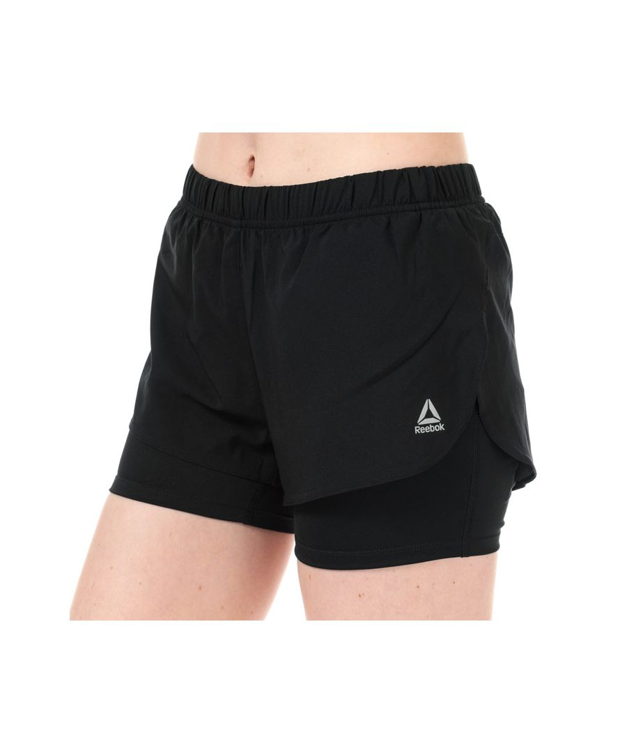 Image for Women's Reebok 2-In-1 Running Shorts in Black
