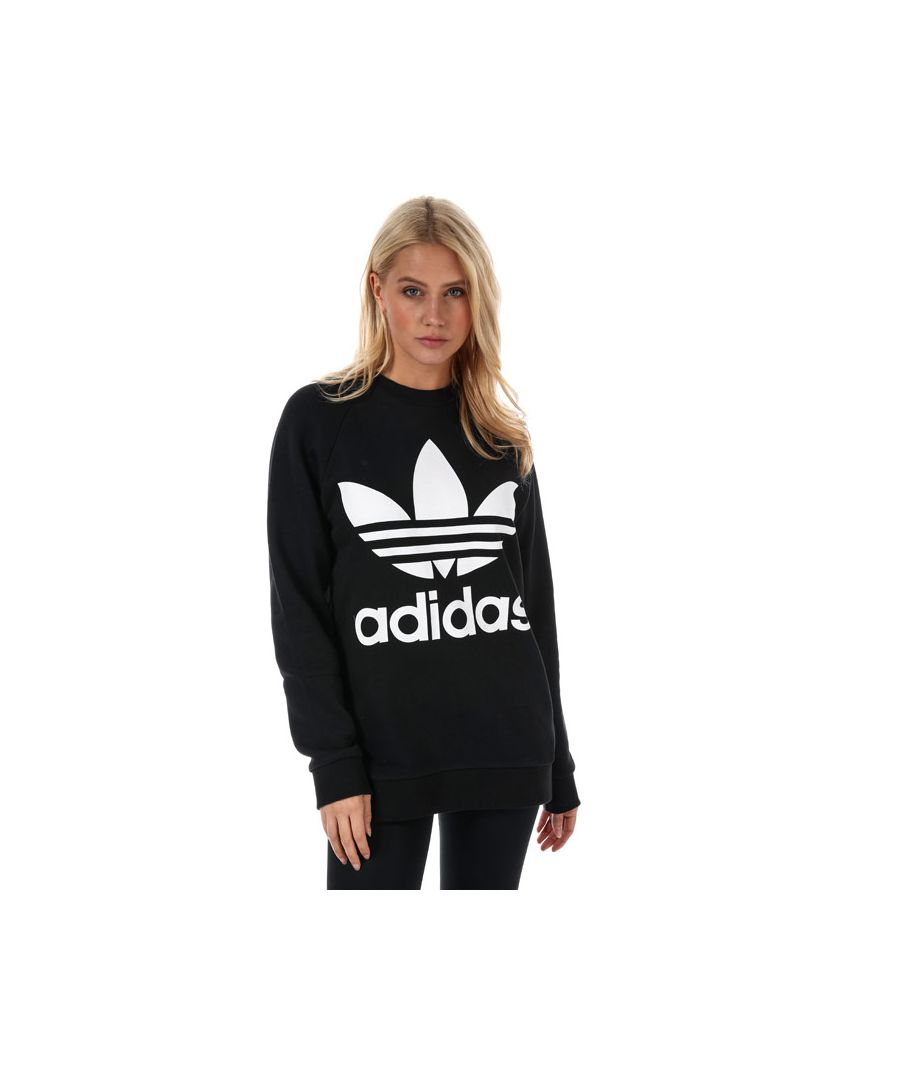 Image for Women's adidas Originals Trefoil Oversize Sweatshirt in Black