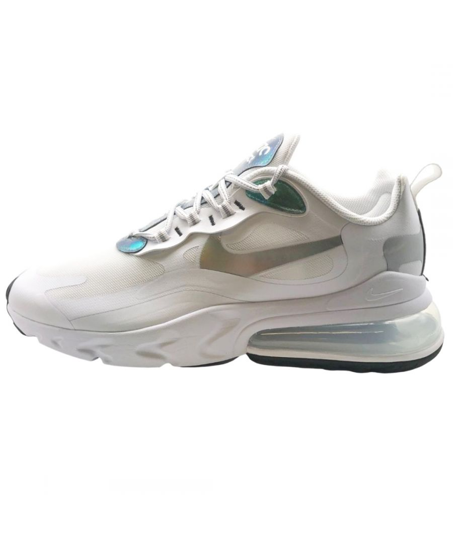 Image for Nike Air Max 270 React Mens White Iridescent Sneakers