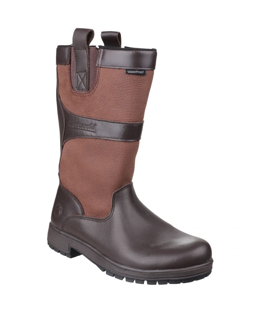 Image for Cotswold Womens/Ladies Ascot Waterproof Pull On Wellington Boots (Walnut)