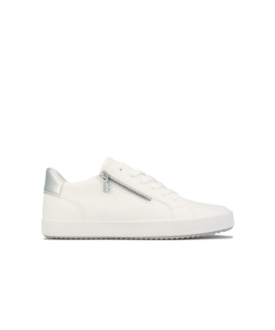 Image for Women's Geox Blomiee Trainers White UK 3in White