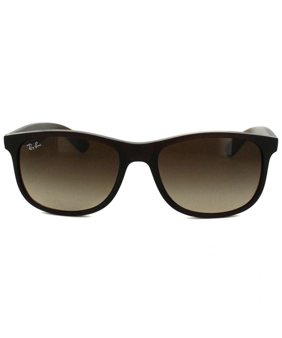 Image for Ray-Ban Sunglasses Andy 4202 607313 Matt Brown Brown Gradient