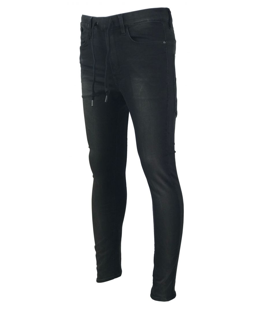 Image for G-Star Type C TYpe C Sport Super Slim Black Rinn Trainer DK Aged Denim Jeans