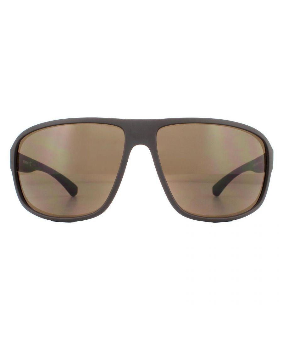 Image for Emporio Armani Sunglasses EA4130 575573 Matte Brown Brown