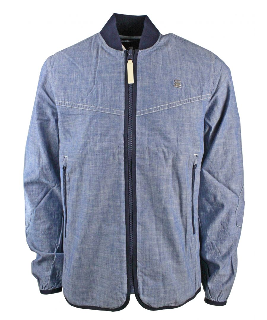 Image for G-Star Setscale Overshirt L/S LT WT Blue Lockstart Chambray Rinsed Jacket