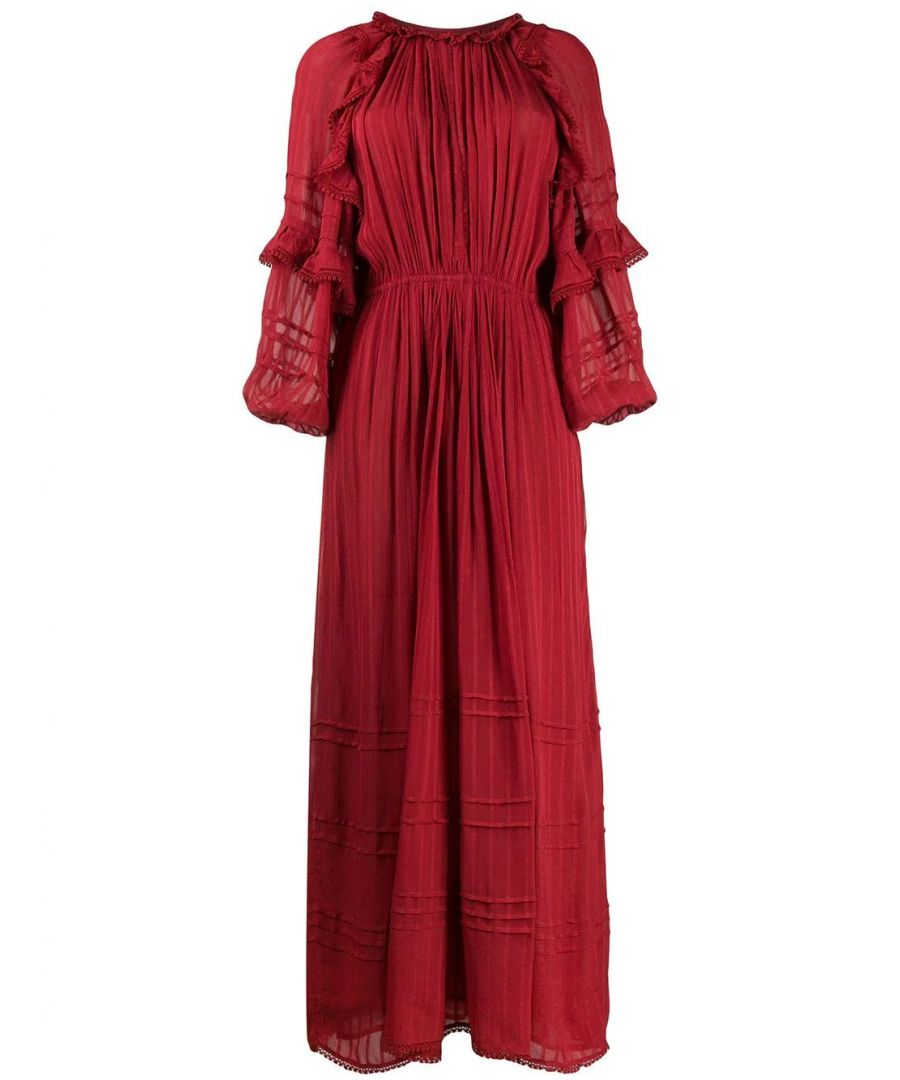 Image for ISABEL MARANT ÉTOILE WOMEN'S RO157020P031E11RU RED VISCOSE DRESS