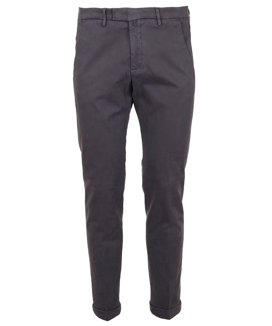 Image for BRIGLIA 1949 MEN'S BG03490870 GREY COTTON PANTS