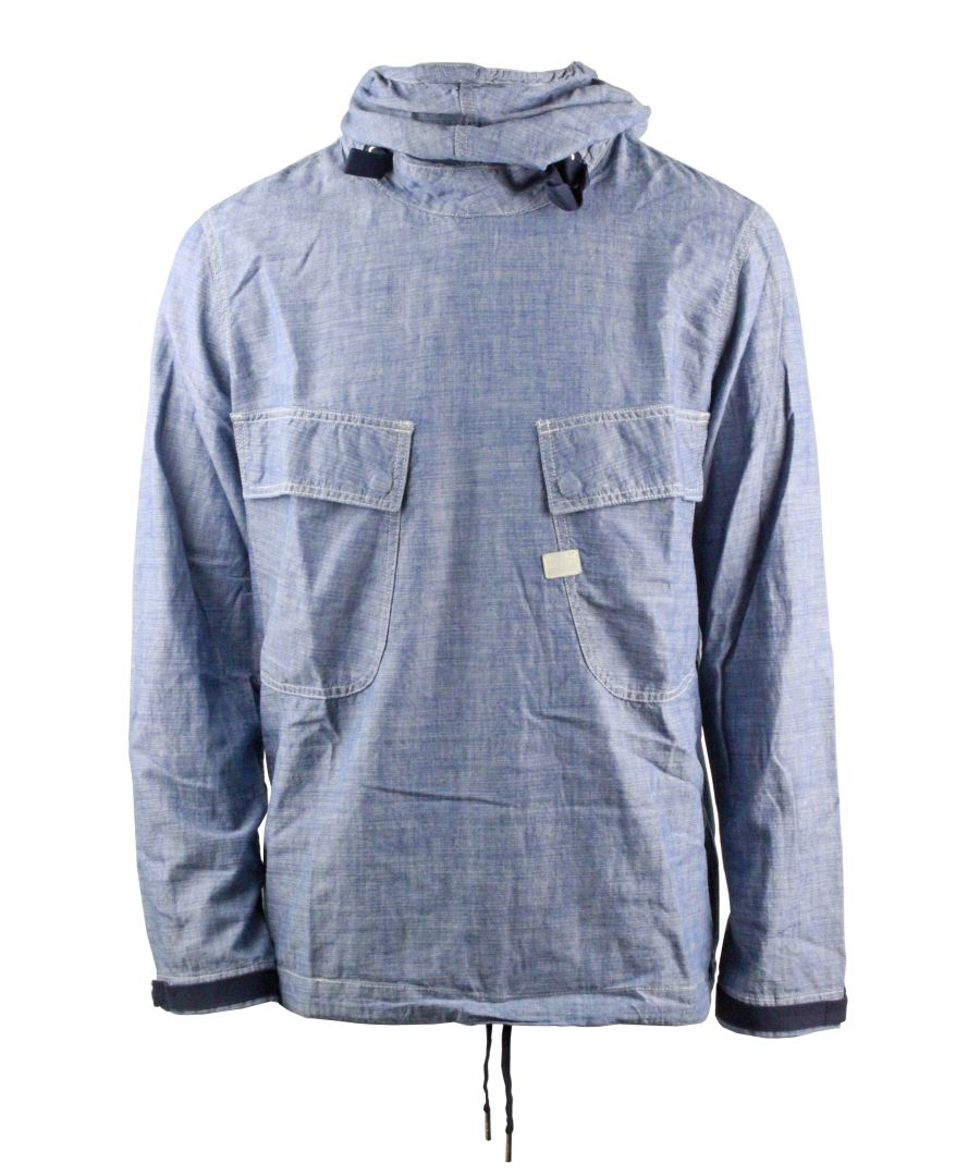 Image for G-Star Chambray PW LT WT Blue Lockstart Chambray Rinsed Hoodie