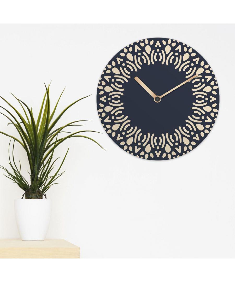 Image for Ethnic Navy Minimalist Mandala Wall Clock