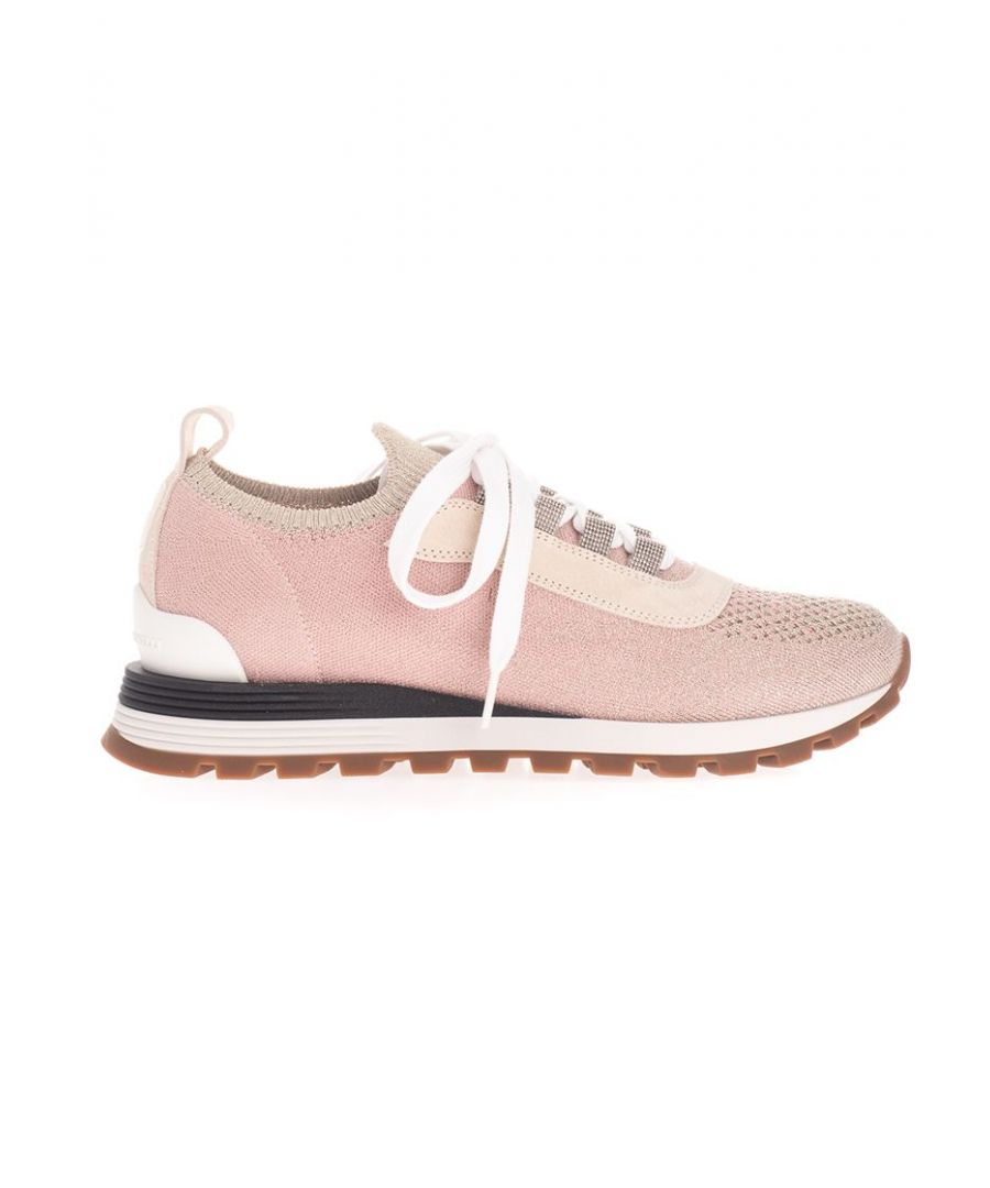 Image for BRUNELLO CUCINELLI WOMEN'S MZ35G1804CS210 PINK COTTON SNEAKERS