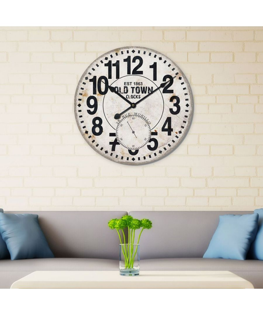 Image for Walplus MDF Wall Clock 60cm clock, Bedroom, Living room, Modern, Home office essential, Gift