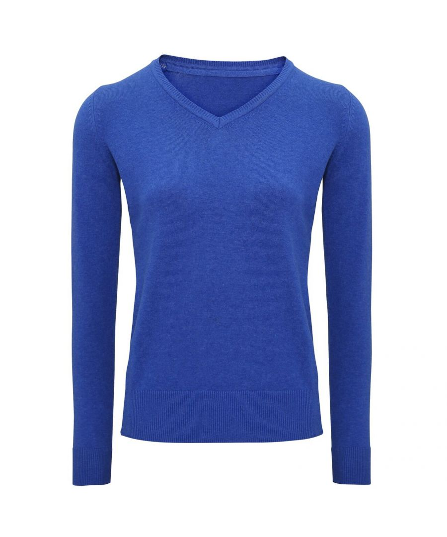 Image for Asquith And Fox Womens/Ladies V-Neck Sweater (Royal Heather)