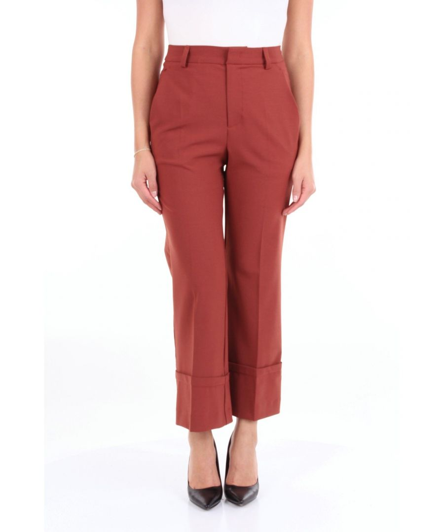 Image for ATTIC AND BARN WOMEN'S ATPA001AT10RUGGINE RED POLYESTER PANTS