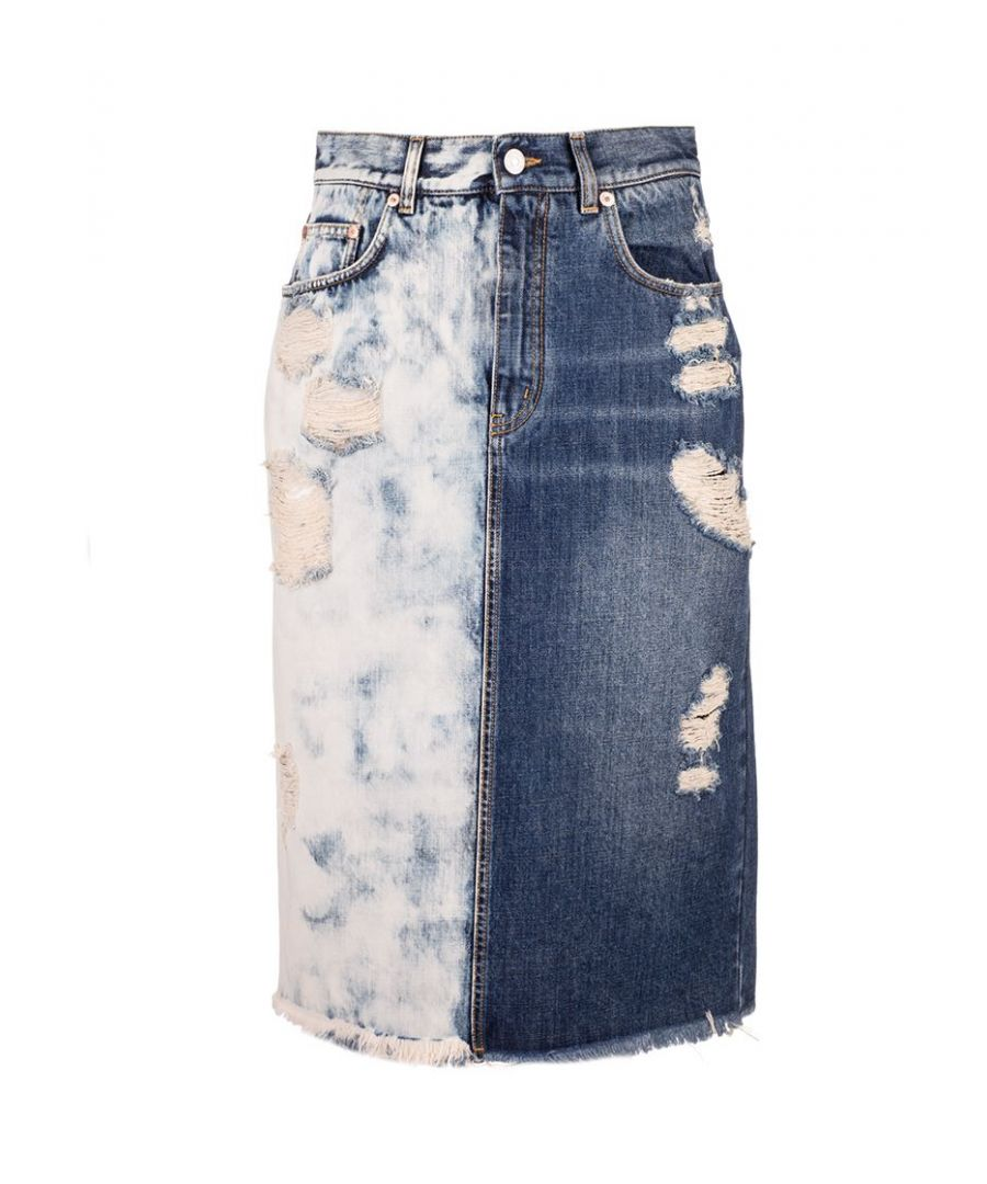 Image for GIVENCHY WOMEN'S BW40ED50F3420 BLUE COTTON SKIRT