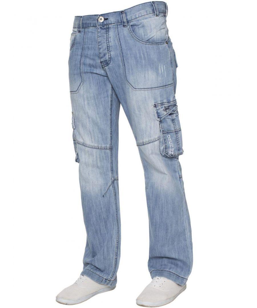 Image for Mens  Combat Denim Jeans | Enzo Designer Menswear