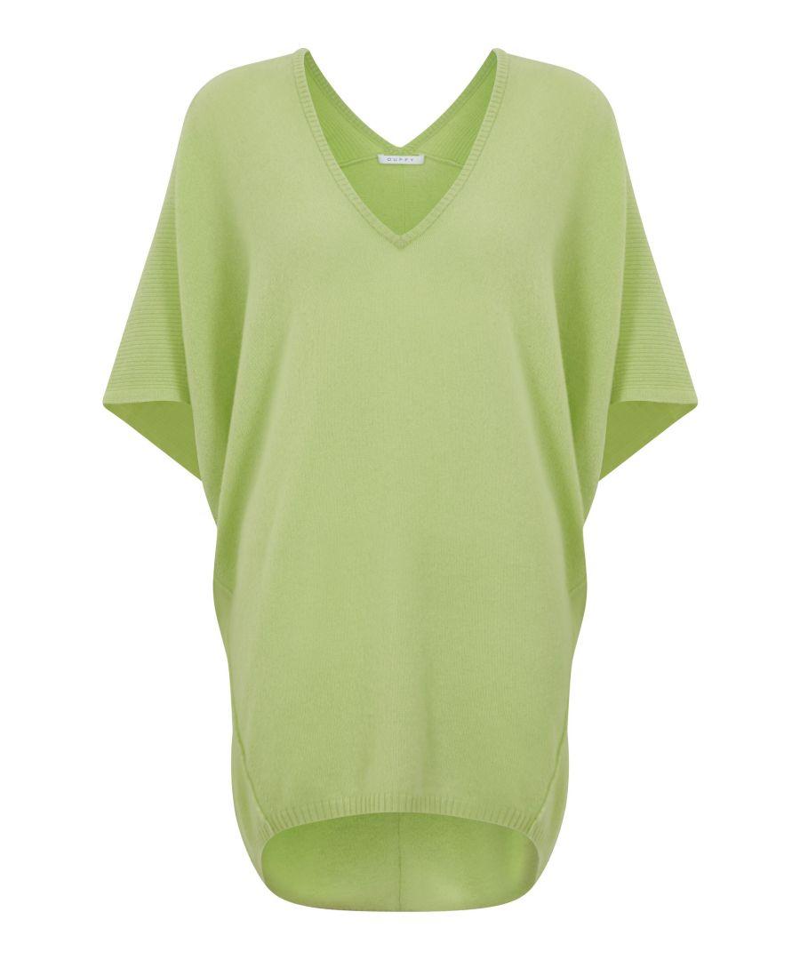 Image for Lime Green Oversized V Neck Tunic