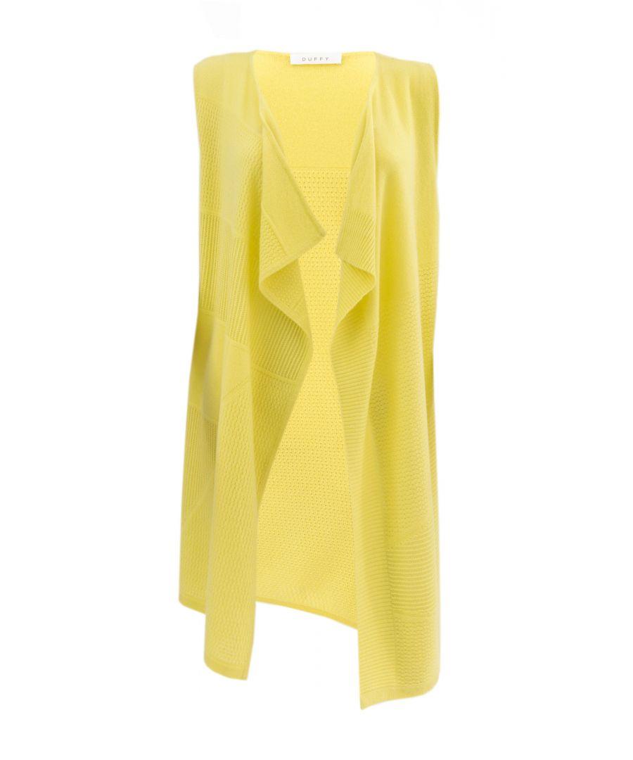 Image for Yellow Bright Cashmere Lemon Sour Waistcoat