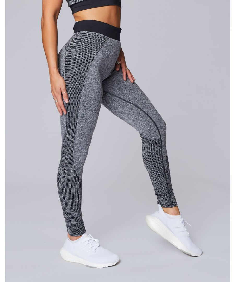 Image for Seamless Marl Leggings in Charcoal